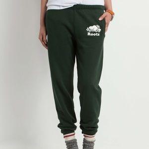 Roots Green Sweat Pants/ Joggers XS